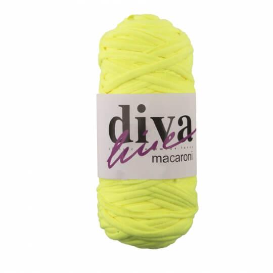 Diva Macaroni Neon Sarı El Örgü İpliği