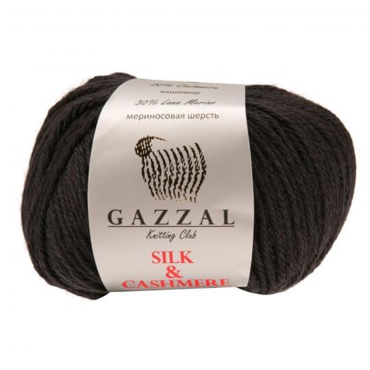 Gazzal Silk&Cashmere Koyu Gri El Örgü İpi - 455