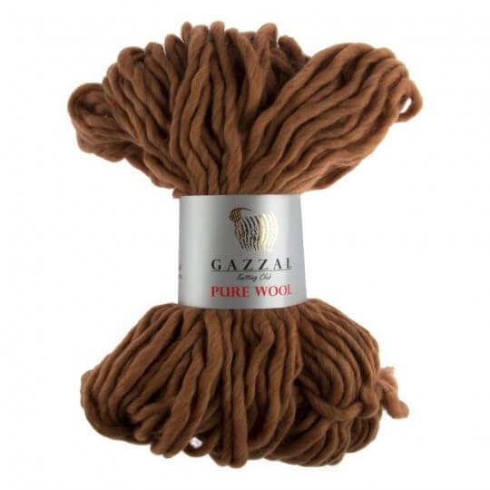 Gazzal Pure Wool Kızıl Kahve El Örgü İpi - 5241