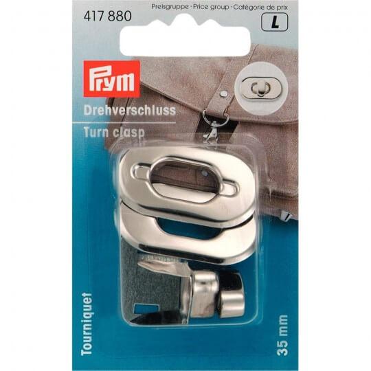 PRYM Gümüş Çelik Çevirmeli Çanta Klipsi - 417880