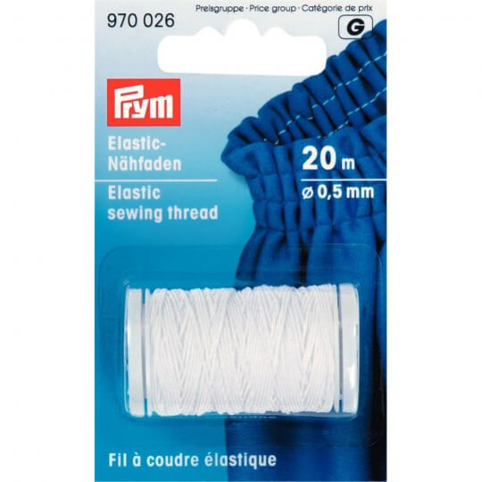 PRYM 0.5 Mm Beyaz Lastik Dikiş İpliği - 970026