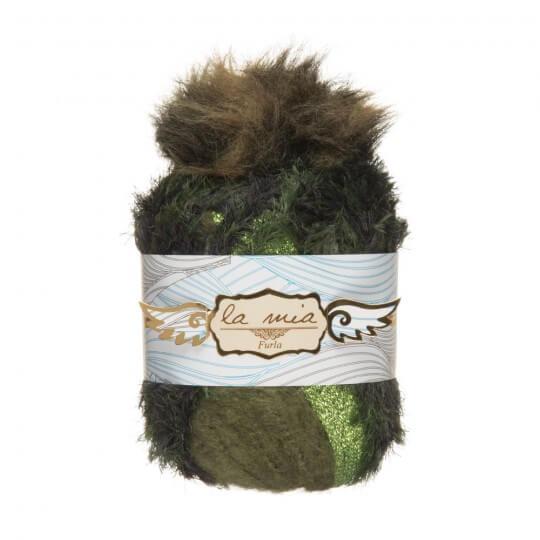 La Mia Furla 5'li Paket Yeşil Ebruli El Örgü İpi