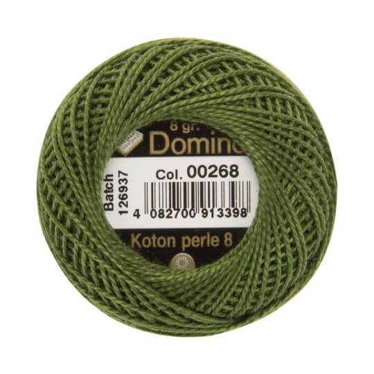 Domino Koton Perle 8gr Yeşil No:8 Nakış İpliği - 00268