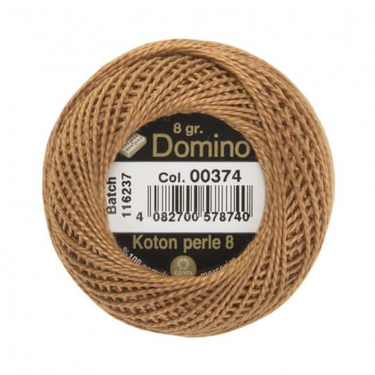 Domino Koton Perle 8gr Kahverengi No:8 Nakış İpliği - 00374