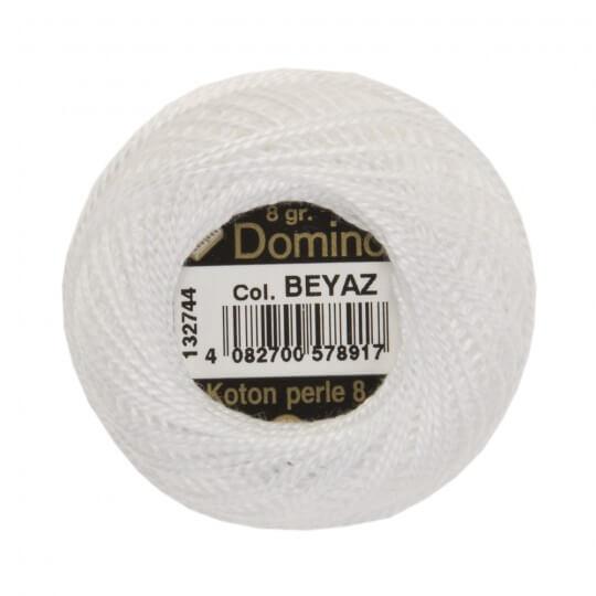 Domino Koton Perle 8gr Beyaz No:8 Nakış İpliği