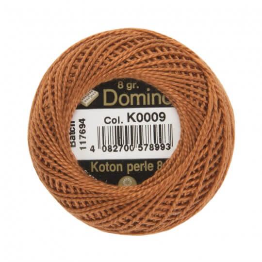 Domino Koton Perle 8gr Kahverengi No:8 Nakış İpliği - K0009