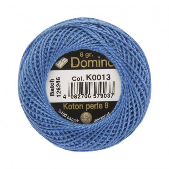 Domino Koton Perle 8gr Mavi No:8 Nakış İpliği - K0013