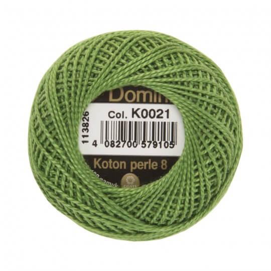 Domino Koton Perle 8gr Yeşil No:8 Nakış İpliği - K0021