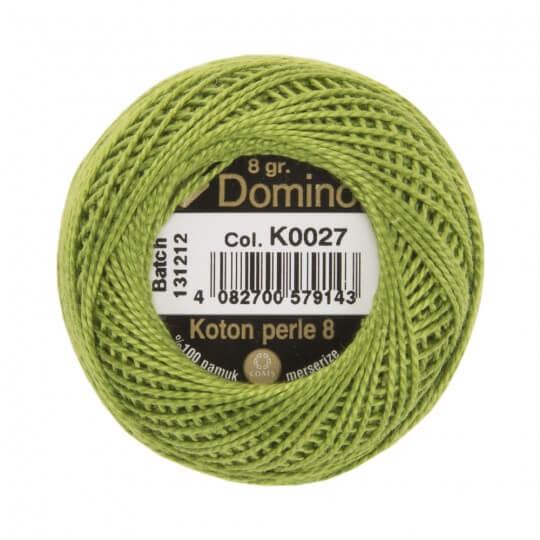 Domino Koton Perle 8gr Yeşil No:8 Nakış İpliği - K0027