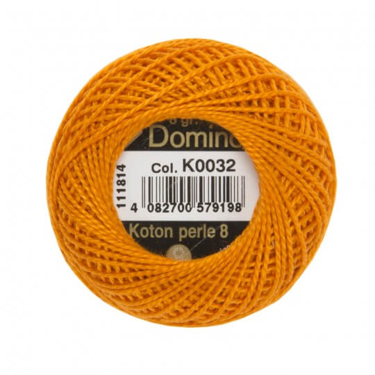 Domino Koton Perle 8gr Turuncu No:8 Nakış İpliği - K0032