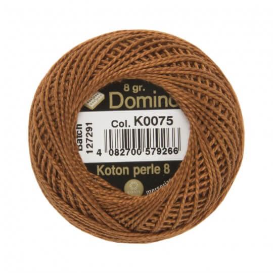 Domino Koton Perle 8gr Kahverengi No:8 Nakış İpliği - K0075