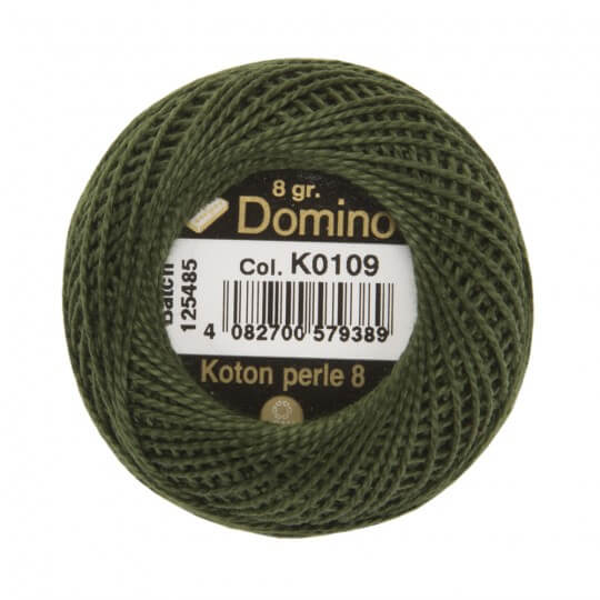 Domino Koton Perle 8gr Yeşil No:8 Nakış İpliği - K0109