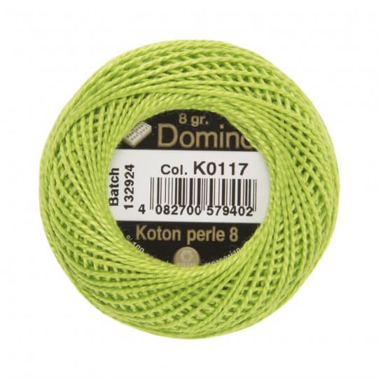 Domino Koton Perle 8gr Yeşil No:8 Nakış İpliği - K0117