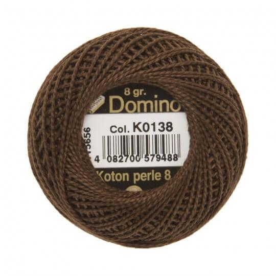 Domino Koton Perle 8gr Kahverengi No:8 Nakış İpliği - K0138