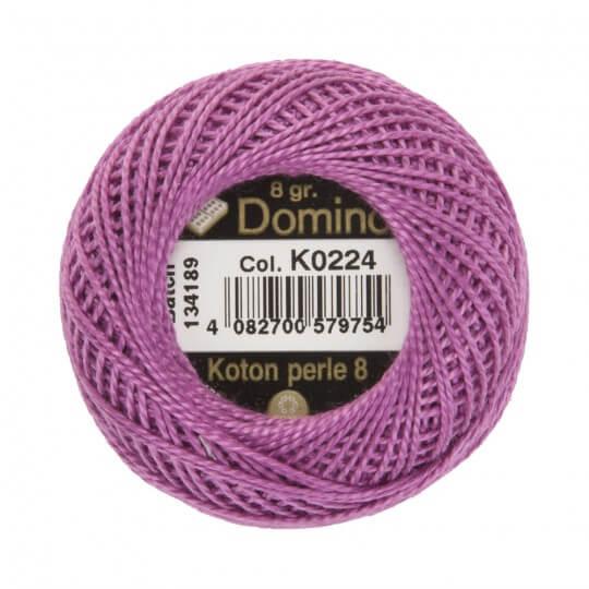Domino Koton Perle 8gr Mor No:8 Nakış İpliği - K0224