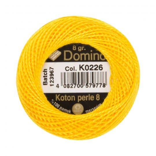 Domino Koton Perle 8gr Turuncu No:8 Nakış İpliği - K0226