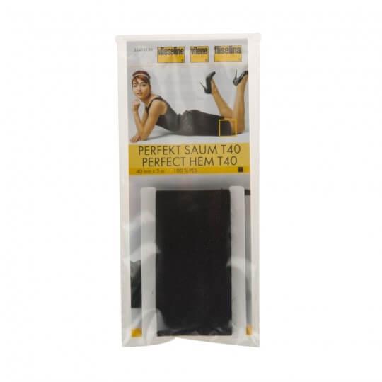 Vliseline 40 mm 3 Metre Siyah Etek Ucu Bant Telası - T40