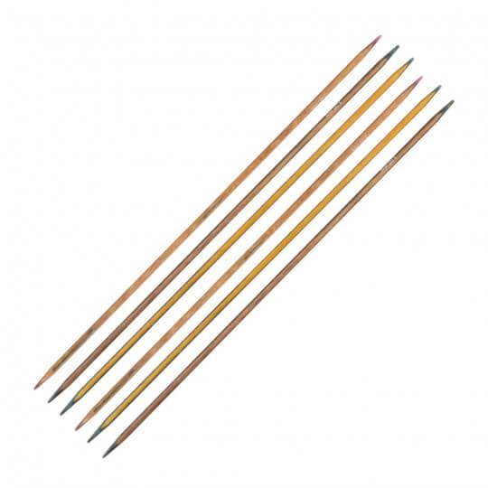 KnitPro Symfonie 3 mm 20 cm Ahşap 6'lı Çorap Şişi - 20119