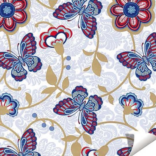 Paw Kelebek Desenli Hediye Paketleme Kağıdı