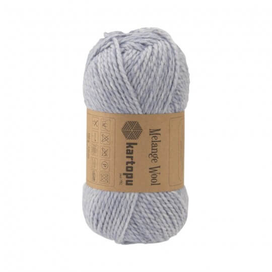 Kartopu Melange Wool Açık Mavi El Örgü İpi - K632