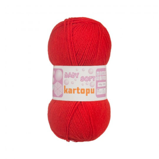 Kartopu 5'li Paket Baby Soft Kırmızı Bebek Yünü - K243