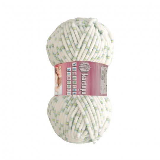 Kartopu Yumurcak Benekli Ebruli Kadife Bebek Yünü - YMR0011