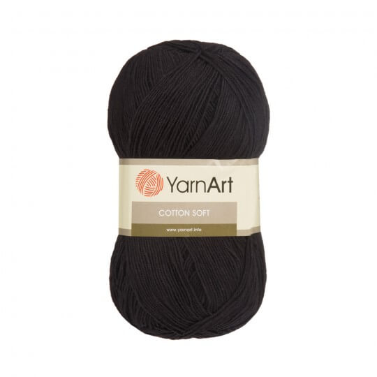 YarnArt Cotton Soft Siyah El Örgü İpi - 53