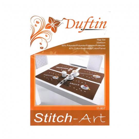 Duftin Coffee Amerikan Servis Altlığı  Etamin Kiti - 11907-AA0083