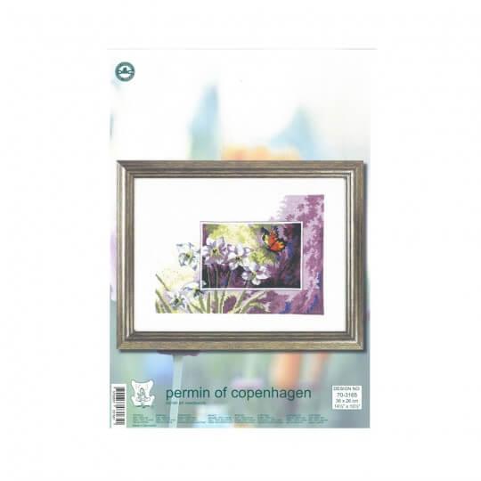 Permin 26x36 Zambak Desenli Etamin Kiti - 703165