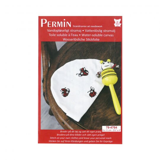 Permin 10x10 Uğurböceği Desenli Mini Etamin Kiti - 794764