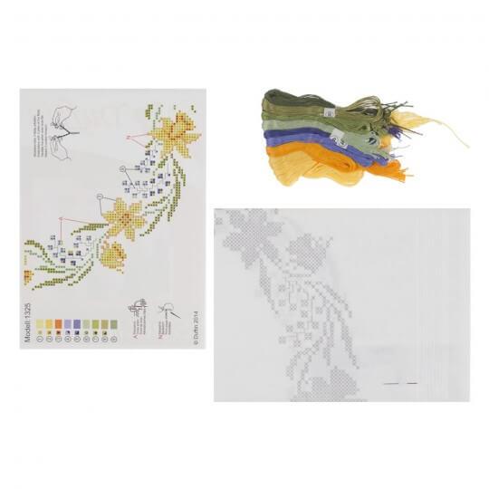 Duftin 80x80 cm Kare Masa Örtüsü Çin İğnesi Nakış Kiti - 1325-AA0084