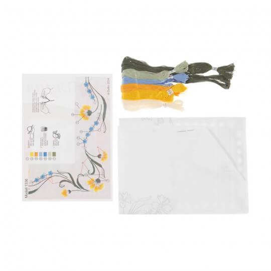 Duftin 80x80 cm Kare Masa Örtüsü Çin İğnesi Nakış Kiti - 1336-AA0084