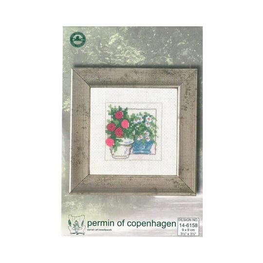 Permin 9x9 Çiçek Desenli Mini Etamin Kiti - 146158