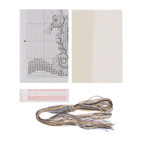 Permin 9x9 Denizatı Desenli Mini Etamin Kiti - 146189