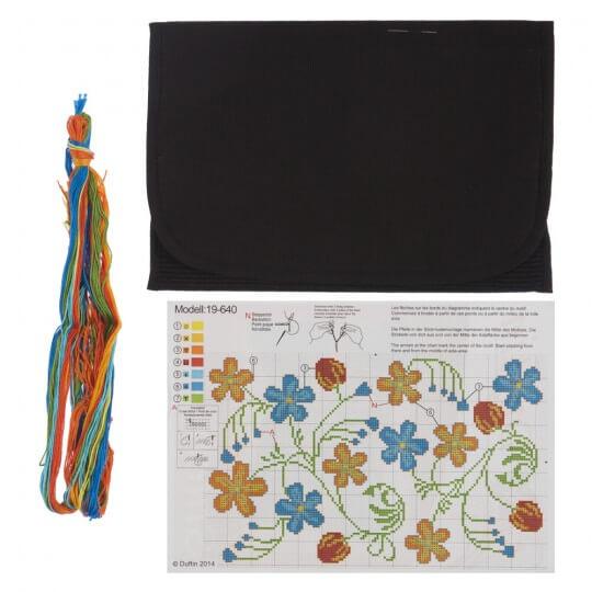 Duftin Çiçek Tablet Bilgisayar Kılıfı Etamin Kiti - 19640-AA0364