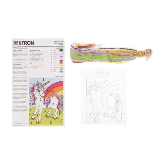 Duftin 15x15 cm Tekboynuz Desenli Resim Uzun İşleme Kiti - FLS579878-AA0346