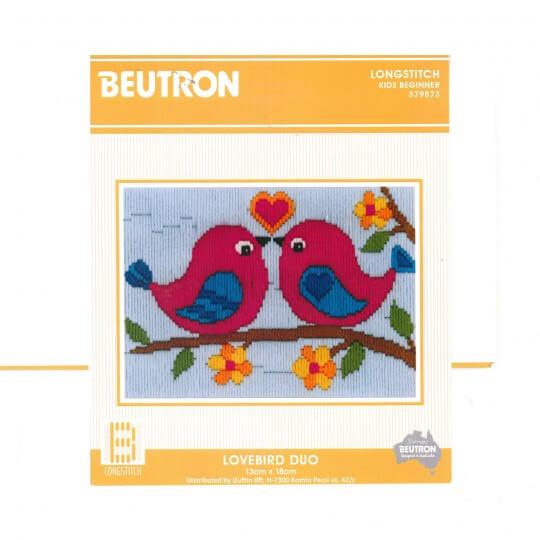 Duftin 15x15 Cm Kuş Desenli Resim Uzun İşleme Kiti - AA0346