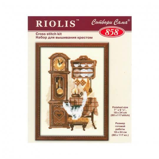 RIOLIS Etamin Kiti Kedi İle Saat -858