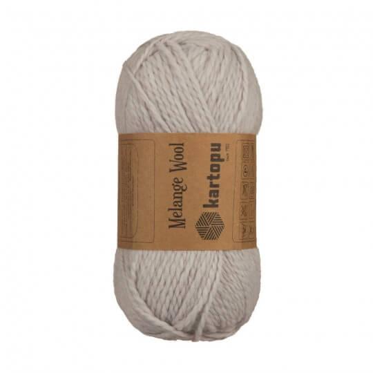 Kartopu Melange Wool Açık Gri El Örgü İpi - K928