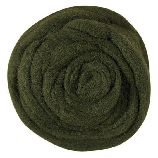 Kartopu Koyu Yeşil Yün Keçe - K410