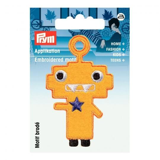 PRYM Sarı Eğlenceli Karakter Desenli Aplike - 924216