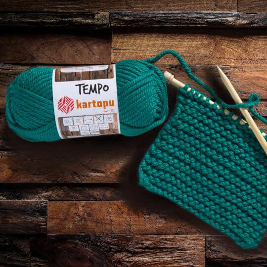 Kartopu Tempo Yeşil El Örgü İpi - K395