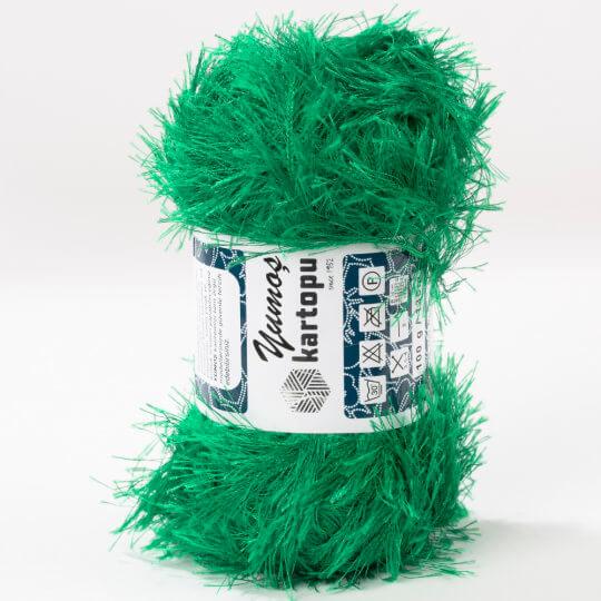 Kartopu 5'li Paket Yumoş Çimen Yeşili El Örgü İpliği - K416