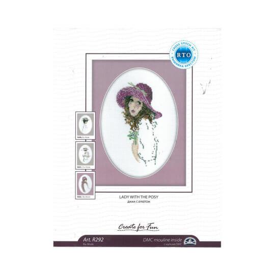 RTO Baltic 9 x 14 cm Şapkalı Kadın Desenli Etamin Kiti - R292