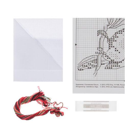 RTO Baltic 10 x 10 cm Kardinal Kuşu Desenli Etamin Kiti - H220