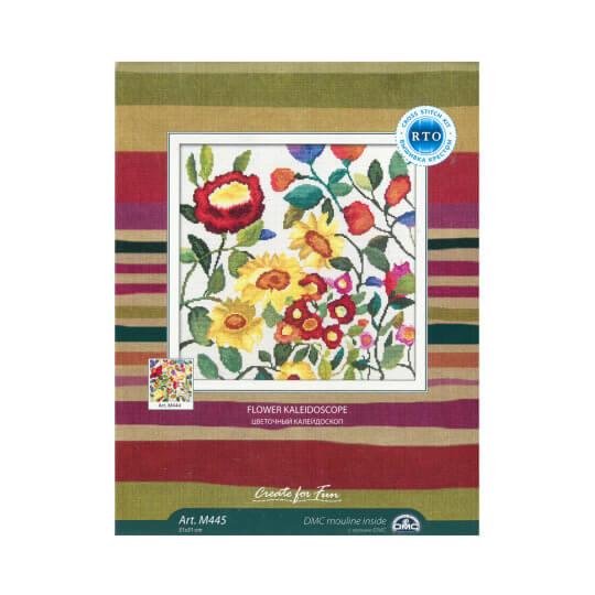 RTO Baltic 31 x 31 cm Renkli Çiçek Desenli Etamin Kiti - M445