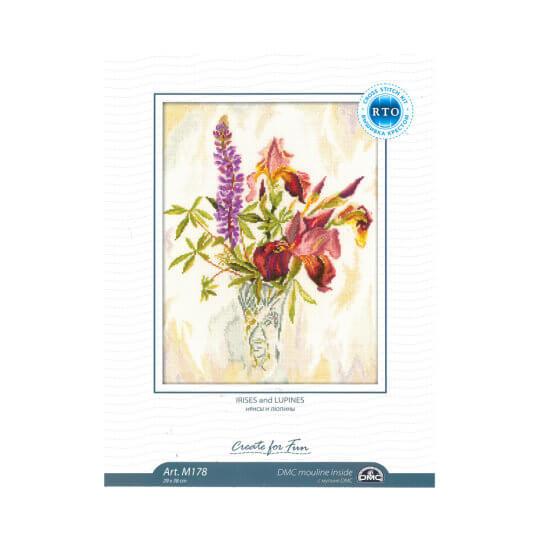 RTO Baltic 29 x 38 cm İris Çiçeği Desenli Etamin Kiti - M178