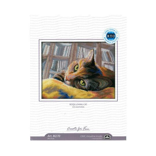 RTO Baltic 29 x 23 cm Kitap ve Kedi Desenli Etamin Kiti - M270