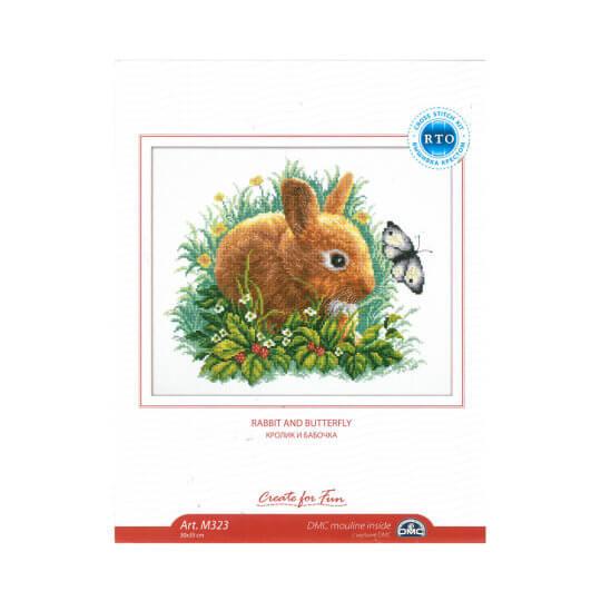 RTO Baltic 30 x 35 cm Tavşan ve Kelebek Desenli Etamin Kiti - M323