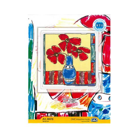 RTO Baltic 16 x 16,5 cm Kırmızı Çiçek Desenli Etamin Kiti - M476